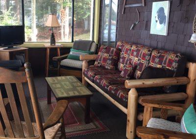 Lake House Porch new sofa